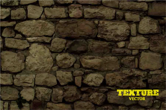 old stone wall background vector