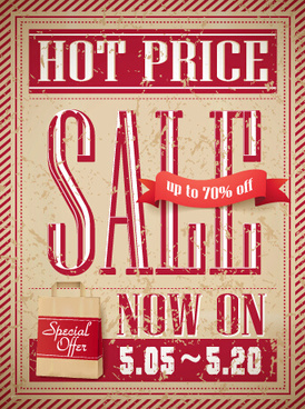 old style advertising poster vector