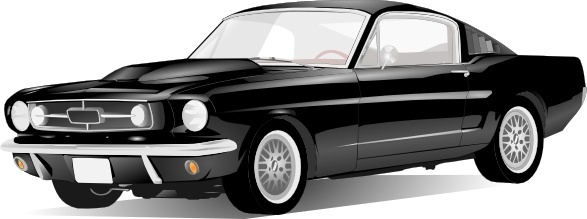 Old Style American Car clip art