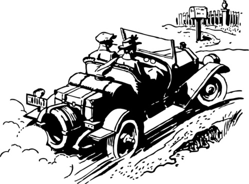 Old Style Automobile clip art