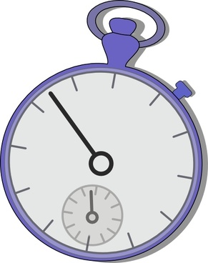 Old Style Stop Watch clip art