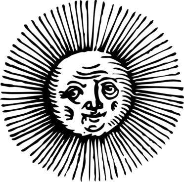 Old Sun clip art