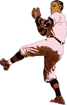 Old Time Pitcher clip art