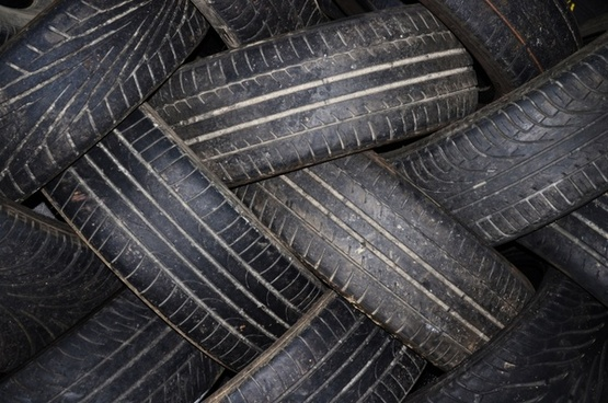 old tires for recycling