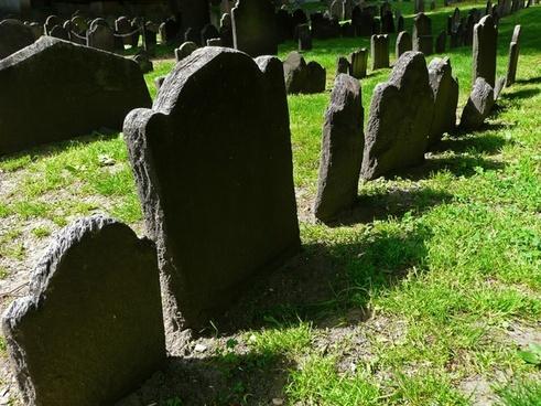 old tombstones cemetery