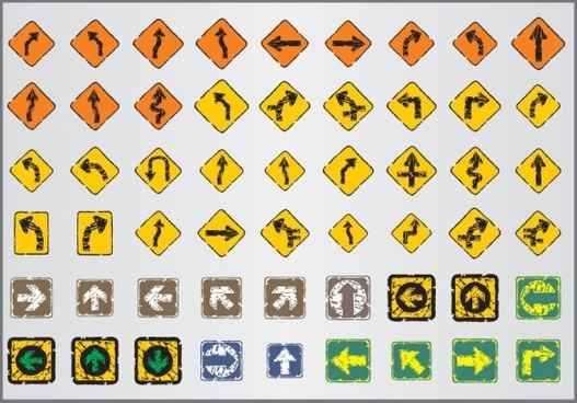 old traffic signs icon 04 vector