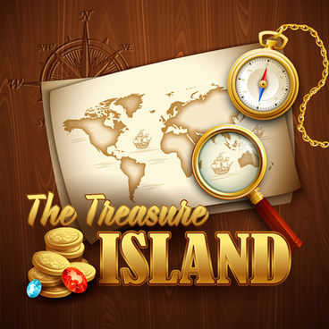 old treasure map vector design graphics
