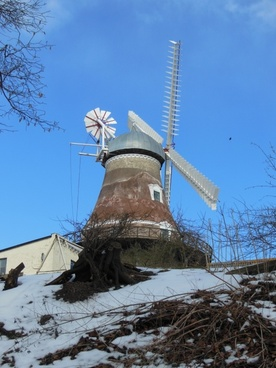 old windmill dyrhave mill 1800-century