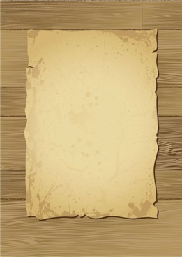 old wood and paper vector