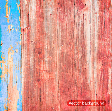old wood boards textures vector background set