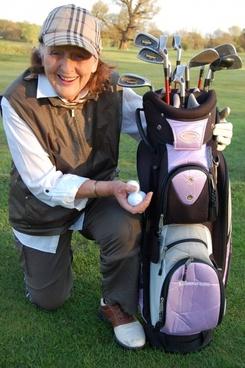 older lady golfer