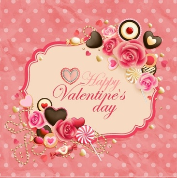oldfashioned valentine cards 01 vector