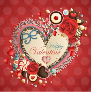 oldfashioned valentine cards 03 vector