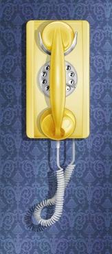 oldfashioned wall phone psd layered