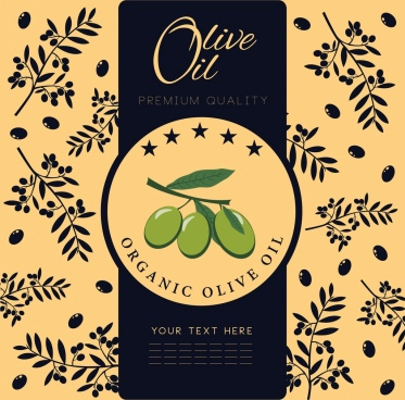 olive oil advertisement fruit background classical design