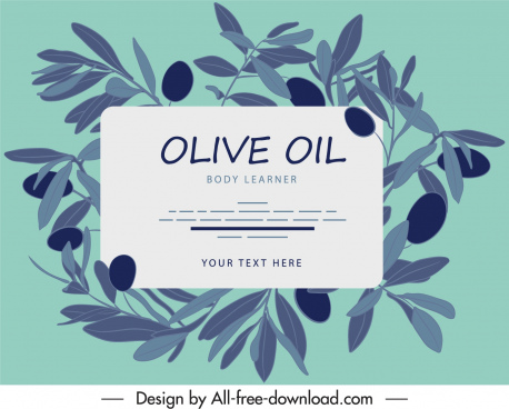 olive oil label template vintage handdrawn design