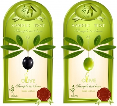 olive oil label template modern green decor