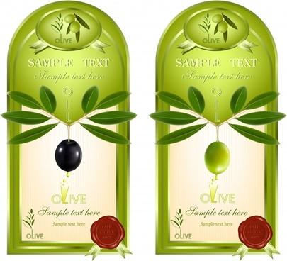 olive oil labels vector