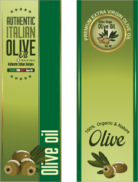olive oil vertical banner vector