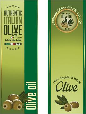 olive oil vertical banner vector