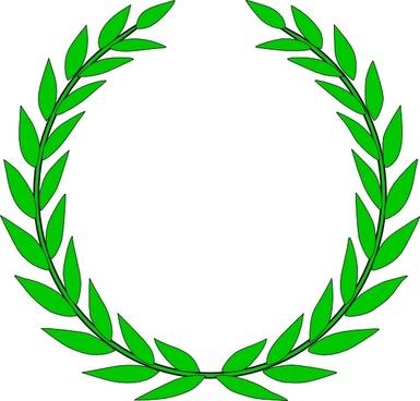 Olive Wreath clip art