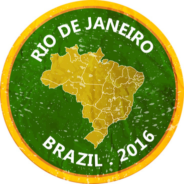 olympic rio 2016 banner design with circle map