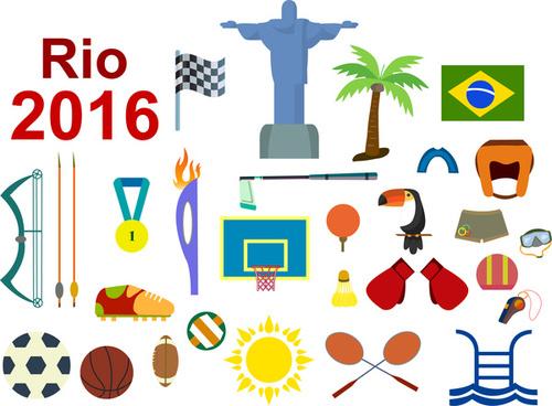 olympic rio brazil 2016 sport icon