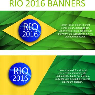 olympic rio de janeiro 2016 banner design templates