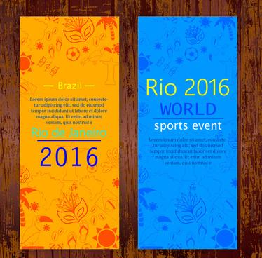 olympic rio de janeiro 2016 flyer design templates