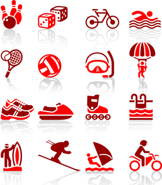 olympic sport icons set