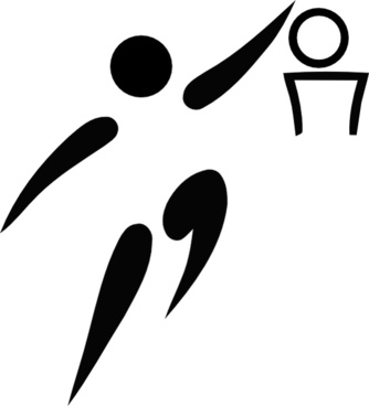 Olympic Sports Basketball Pictogram clip art