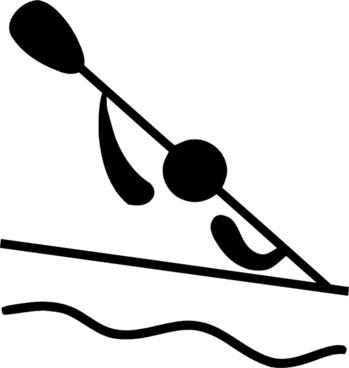 Olympic Sports Canoeing Slalom Pictogram clip art