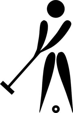 Olympic Sports Croquet Pictogram clip art