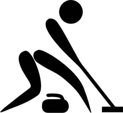 Olympic Sports Curling Pictogram clip art
