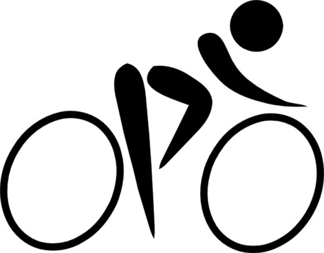 Olympic Sports Cycling Road Pictogram clip art