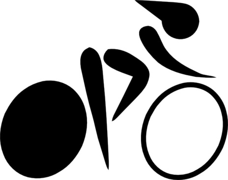 Olympic Sports Cycling Track Pictogram clip art