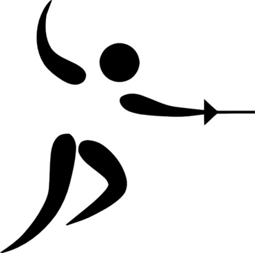 Olympic Sports Fencing Pictogram clip art