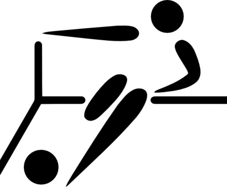 Olympic Sports Futsal Pictogram clip art