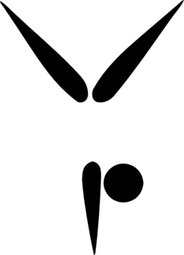 Olympic Sports Gymnastics Artistic Pictogram clip art