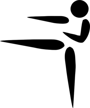 Olympic Sports Karate Pictogram clip art