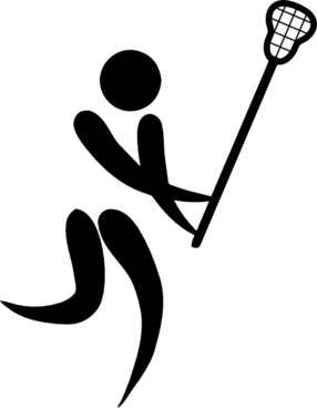 Olympic Sports Lacrosse Pictogram clip art