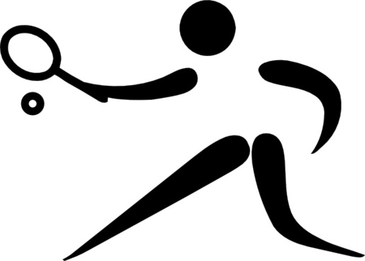 Olympic Sports Pictograms Olympic Sports Jeu De Paume Pictogram clip art