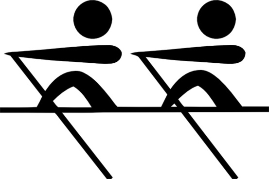 Olympic Sports Rowing Pictogram clip art
