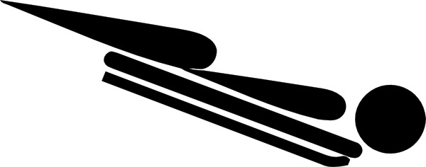 Olympic Sports Skeleton Pictogram clip art