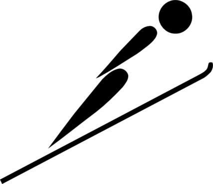 Olympic Sports Ski Jumping Pictogram clip art