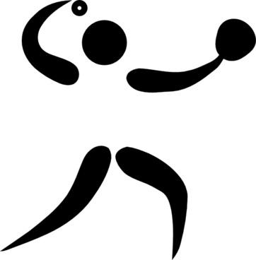 Olympic Sports Softball Pictogram clip art