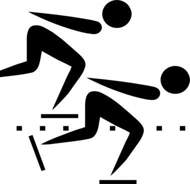 Olympic Sports Speed Skating Pictogram clip art