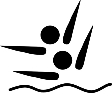Olympic Sports Synchronized Swimming Pictogram clip art