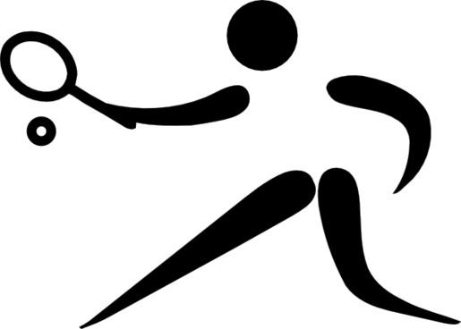 Olympic Sports Tennis Pictogram clip art