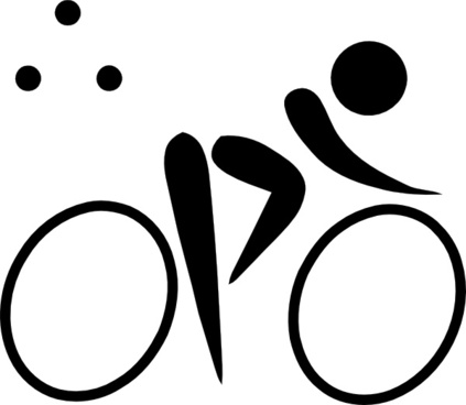 Olympic Sports Triathlon Pictogram clip art